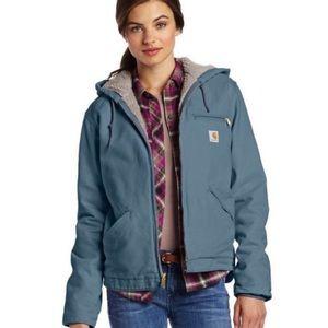 Carhartt Sierra hooded Sherpa lined canvas jacket